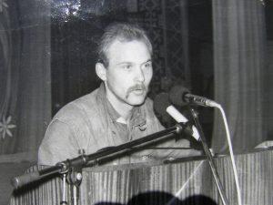 """Ерзя Васілій Бокін на з'їзді товариства """"Масторава"""", 3-5 серпня 1990 р."""