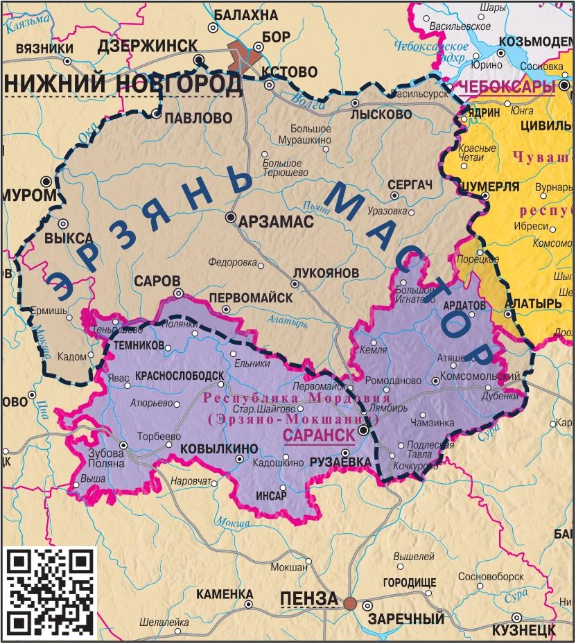 Карта Ерзянь Мастор